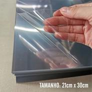50 Folhas De Acetato Pet Transparente A4 21x30cmx0,30mm Esp