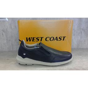 Zapatillas De Vestir Azules- West Coast - Art 3902