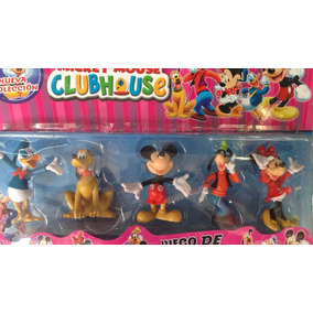 Blister Mickey Minnie Donald Pluto X5 - 11 Cm!!
