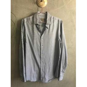 Camisa Social Zara Masculina M Slim Fit