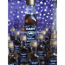 Mini Botella Whisky Botellita 30 Cc Souvenir Cumpleaños