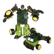 Boneco Robô Transformers De Montar Vira Carro Acessórios