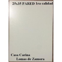 Blanco Satinado 25x35 1ra Calidad Lourdes Pared