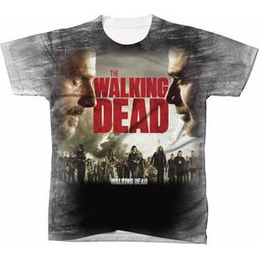 Camisa Camiseta Blusas Manga Curta Serie The Walking Dead 05