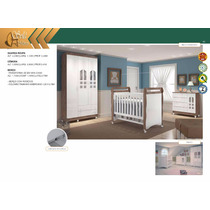 Dormitório Infantil - Conjunto: Guarda Roupa, Cômoda E Berço
