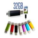 5 Memorias Flash Drive Dual Otg 32gb Usb 2.0 Pc Y Android