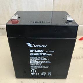 Bateria Vision Cp1250 12v 5ah Para Ups, Cortinas Metalicas