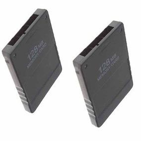 Ajuste De Un Paquete De 2black 128 Mb Memory Card Ps2...