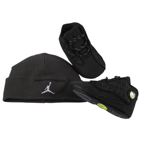 Jordan Retro 13 - Black Cat Infant - Talle 16