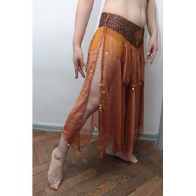Conjunto Pollera Y Corpiño Danza Arabe Belly Dance Premium