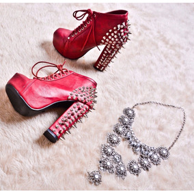 Studded Boots - Botas Con Tachas - Talle: 36.5