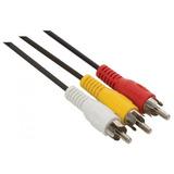 Cable Rca-auxiliar 1.5 Mts Audio Estéreo Electrónica Mayoreo