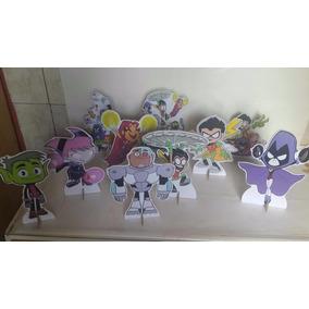 Jovens Titãn 10 Displays De Mesa Decoração Festa Infantil