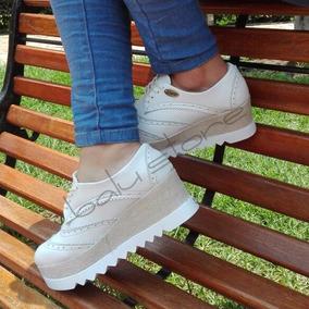Zapatos Con Plataforma Blancos De Moda