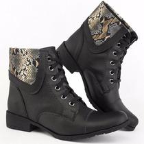 Bota Feminina Inverno Moda Mulher Botinha Coturno Sapato 17