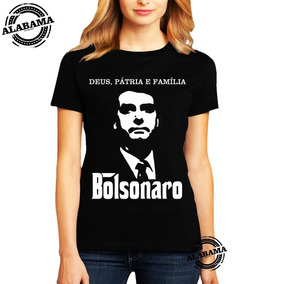 Camisa Feminina Baby Look Bolsomito Bolsonaro 2018 President