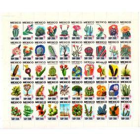 México 2000 Tb Cactus De México Hoja De 50 Piezas