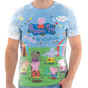 Camiseta Camisa Infantil Personalizada Peppa Pig Desenho 2