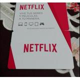 Netflix Tarjeta De Regalo 2 Ult.hd Entrega Inmediata Orginal