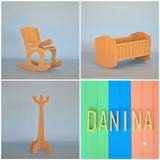 Muebles Barbie - Combo Cuna + Mecedora + Perchero