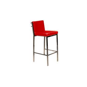 Silla De Bar En Piel Roja Marca Matisses 1330129