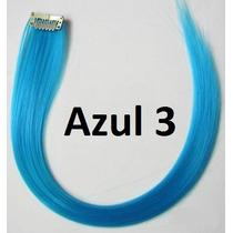 Mecha Colorida Tic Tac 3cm X 50cm - Azul 3 - Frete R$6,00