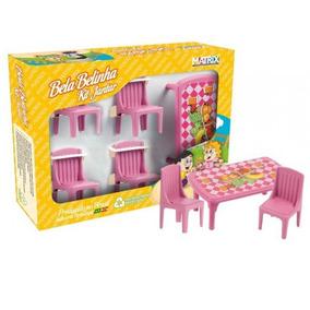 Kit Sala Jantar Bela Belinha Infantil - Brinquedos