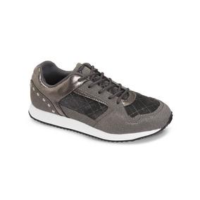 Zapato Croydon Woika Gris Para Mujer