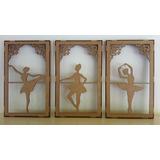 Kit Quadros Bailarina E 30 Bailarinas Com 10 Cm Decoração