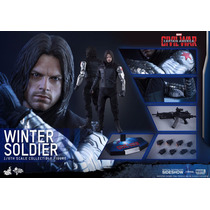 Winter Soldier Hot Toys Civil War (no Brasil) (12x)