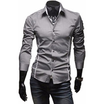 Camisa Social Slim Fit Importada Promoção A Pronta Entrega