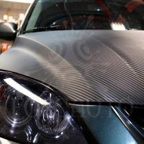 Adesivo Fibra Carbono Preto Fosco Carro Moto Pc