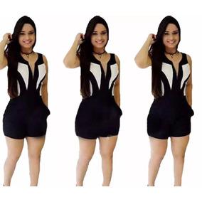 Macacão Macaquinho Curto Feminino 3d