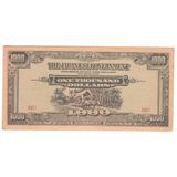 Billete Malaya 1,000 Dolares (1944) Bajo Dominio Japones