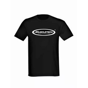 Remera Negra Muscletech 100% Algodón Importada Usa Original
