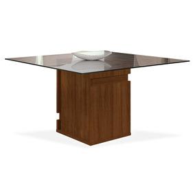 Mesa De Jantar Para 8 Lugares, (1,40 X 1,40), Rústico Malbec