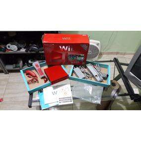 Wii Vermelho Edição 25 Anos Na Caixa