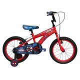 Bicicleta Lahsen Spiderman Aro 16 Roja