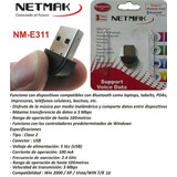 Adaptador Mini Usb 2.0 Bluetooth (nm-e311) Netmak