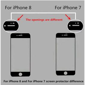 Protector Vidrio Templado 3d Anti Huella Iphone 8