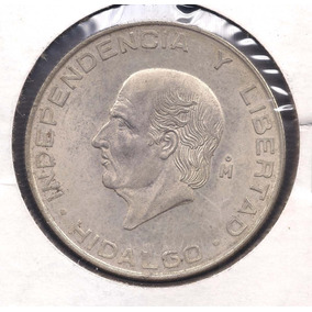 Moneda Mexico 5 Pesos 1957 Plata!!!