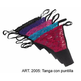 Tangas Cola Less Xxl - En Puntilla Y Tul - Super Sexy