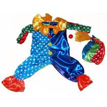 Disfraz Arlequin Circo Payaso Payasito Colorido Niños