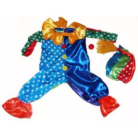 Disfraz De Arlequin Circo Payaso Payasito Colorido Niños