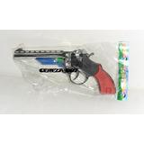 Revolver Pistola De Juguete A Cebita Con Silenciador 22cm