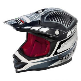 Capacete Tutto Moto Cross - Cinza - Off Road Novo Grey Leve