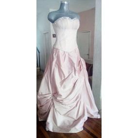 Hermoso Vestido Unitalla. En Rosa Suave Para Fiestas.