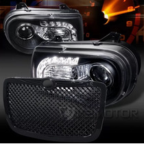 Faros Led Y Parrilla Chrysler 300c 2005 2006 07 08 2009 2010