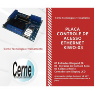 Placa De Controle De Acesso Ethernet Wiegand 26, Conexão Lcd