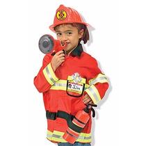 Disfraz De Bombero Chaqueta Niños Niñas Fiestas Disfraces